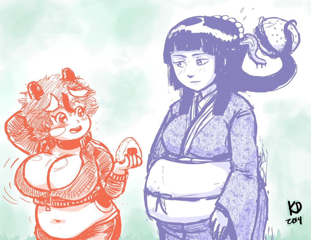 Japanese Folklore Monster Gals by kawaiidebu