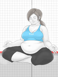 Fan Art Fat Pack - WiiFit Trainer by kawaiidebu