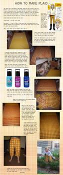 Plaid Fabric Tutorial by AllFades