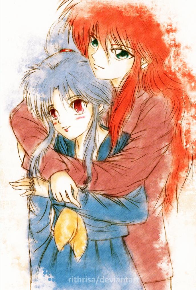 Botan and Kurama by rithrisa