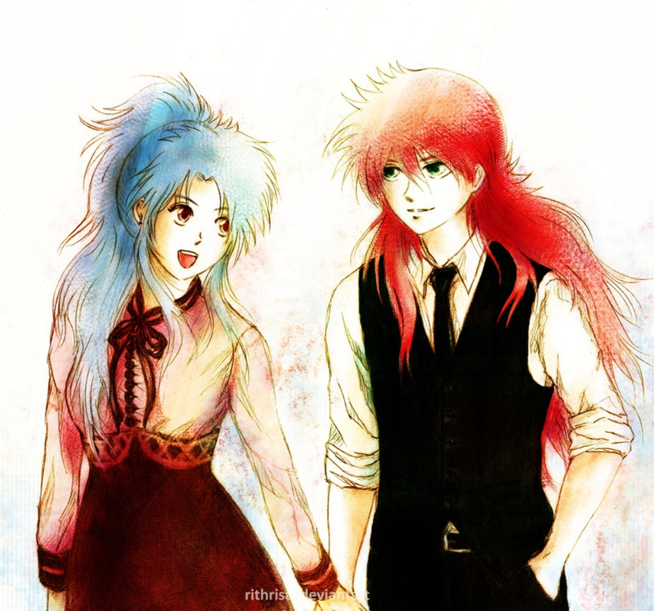 Kurama and Botan by rithrisa
