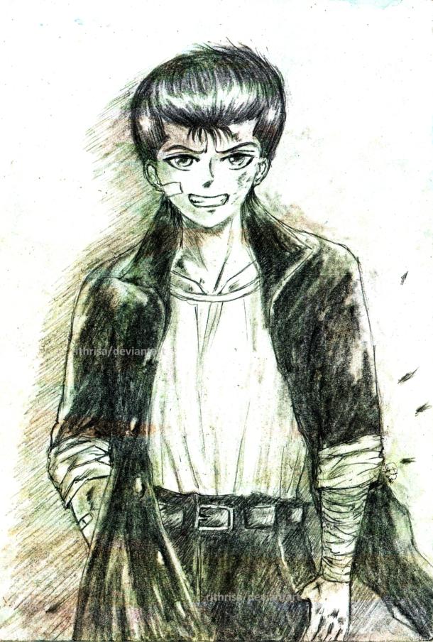 how to draw yusuke urameshi