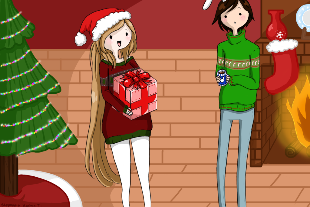 Merry Chrismas! (Adventure time Ocs) by Rinnichin