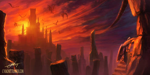 Dragon Shrine (Dark Souls II) by C-HaoArt