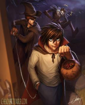 Trick or Treat! (Death Note Fanart)