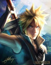 Cloud (Final Fantasy 7) by C-HaoArt
