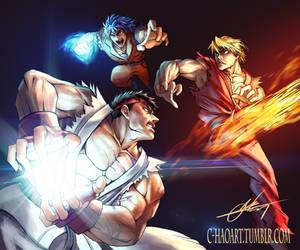 Street Fighter x Toriko by C-HaoArt