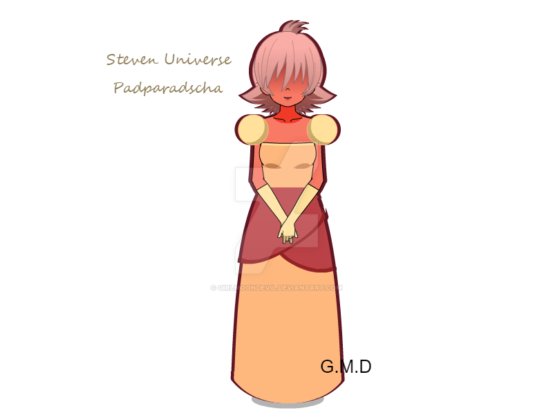 .:Fanart:. Steven Universe - Padparadscha Sapphire by GirlMoonDevil