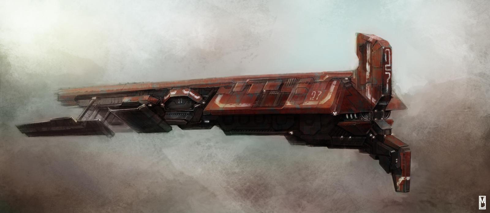 Titan Ship by Marcodalidingo