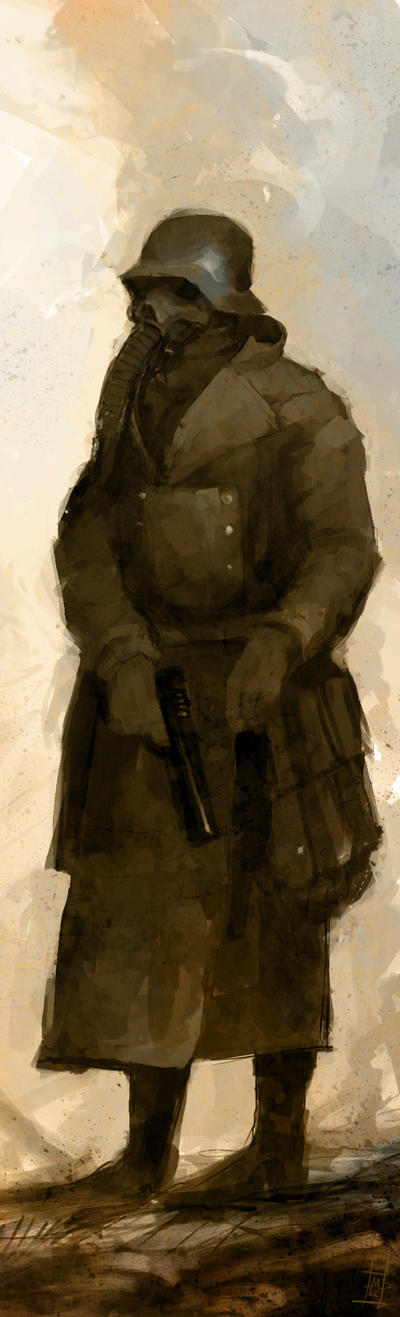 Gasmask Soldier by Marcodalidingo