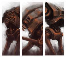 3 Rusted Robots by Marcodalidingo