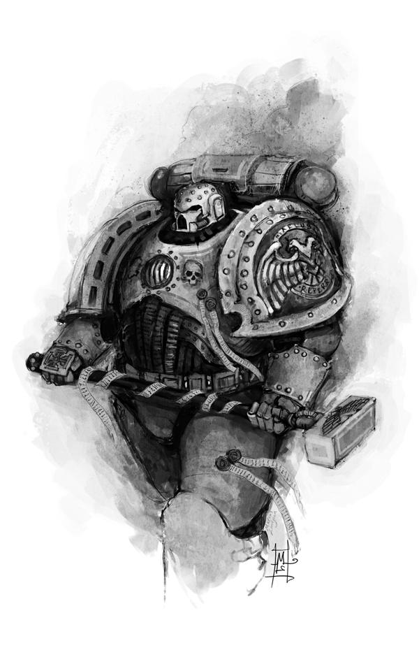 Space Marine Captain by Marcodalidingo