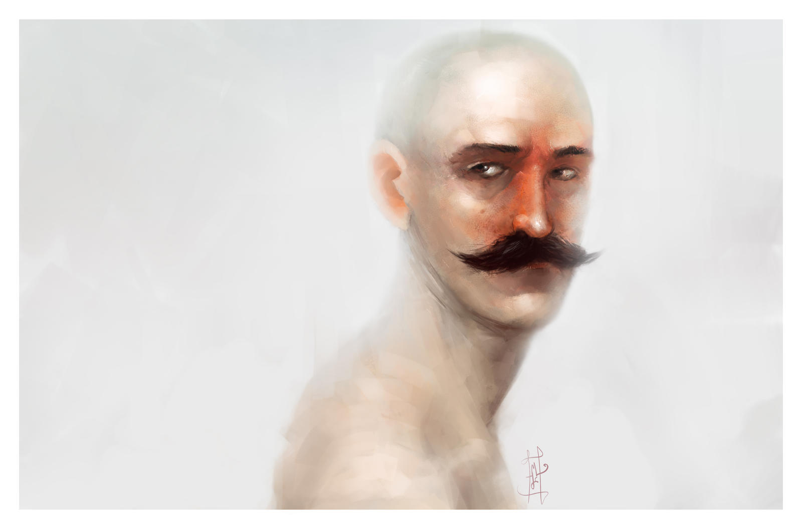 Moustache guy by Marcodalidingo