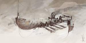 Flying barge speedpaint by Marcodalidingo