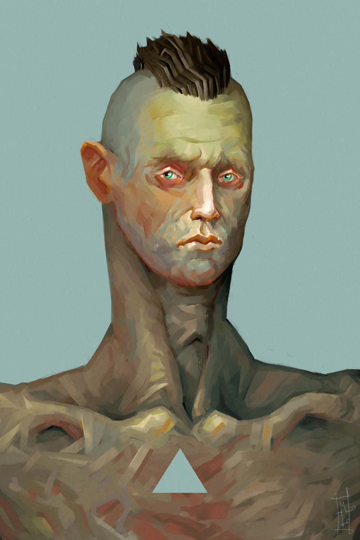 Head Of Man by Marcodalidingo