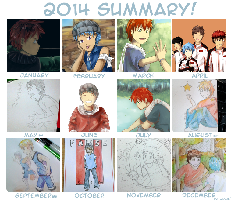 2014 Art Summary! by totodos