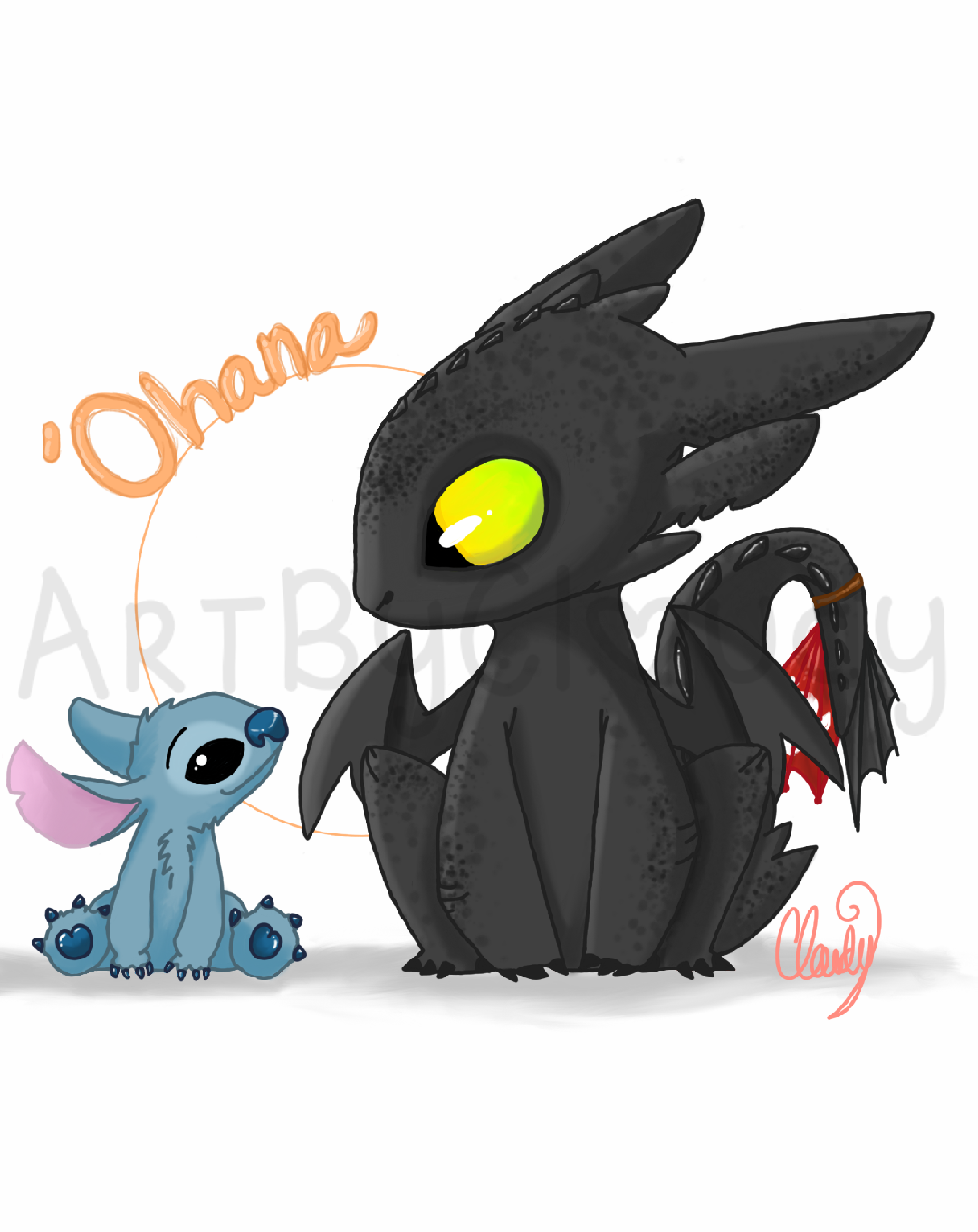 stitch and toothless by emochicklette04 on DeviantArt - photo#38