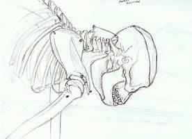 Quick Monkey Skeleton Study by Clayofmyclay