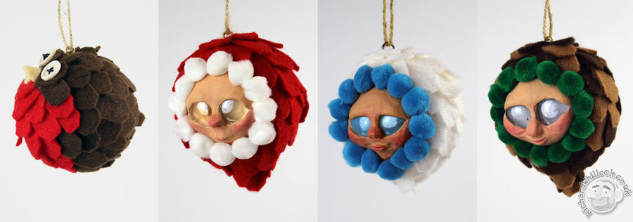 Christmas Tree Ornamanets by Clayofmyclay