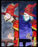 Acrylic painting: Rincewind by Clayofmyclay