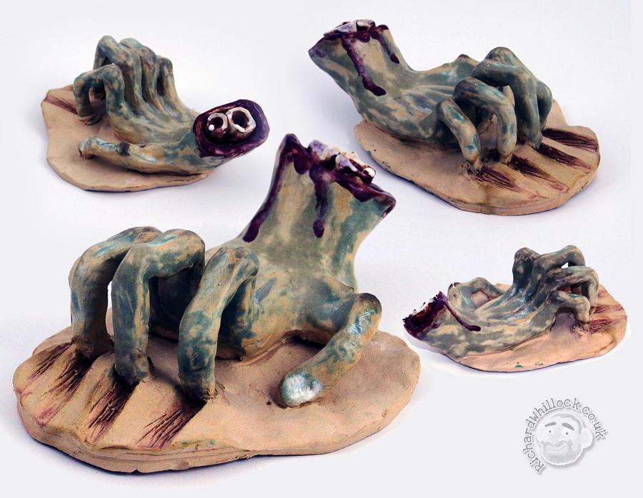 Ceramic Zombie Hand by Clayofmyclay