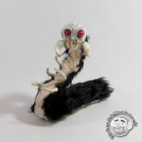 Skullapillar Figure by Clayofmyclay
