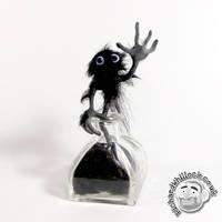 Inkworm Figure by Clayofmyclay