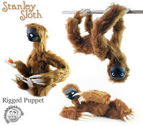 Stanley Sloth Puppet by Clayofmyclay