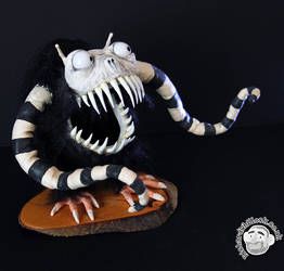 Alien Monster Puppet Commission by Clayofmyclay