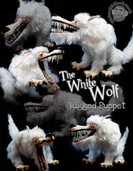 White Wolf Puppet by Clayofmyclay