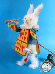 Rabbit Herald Puppet by Clayofmyclay