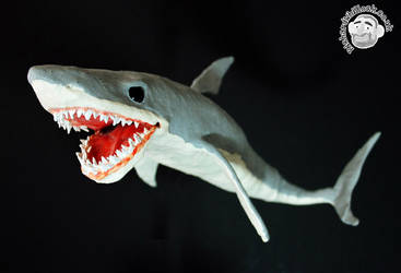 Great White Shark Puppet by Clayofmyclay