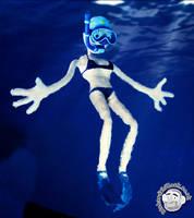 Scuba Girl Puppet