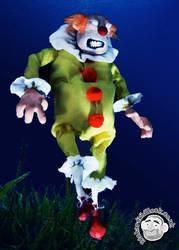 Underwater Zombie Clown Puppet