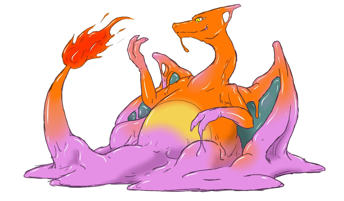 Métamorph : Le pokémon chewing-gum Ditto_into_charizard_by_nesise-d6gwyuo