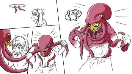 Octopus Lord TF comic P1 by nesise