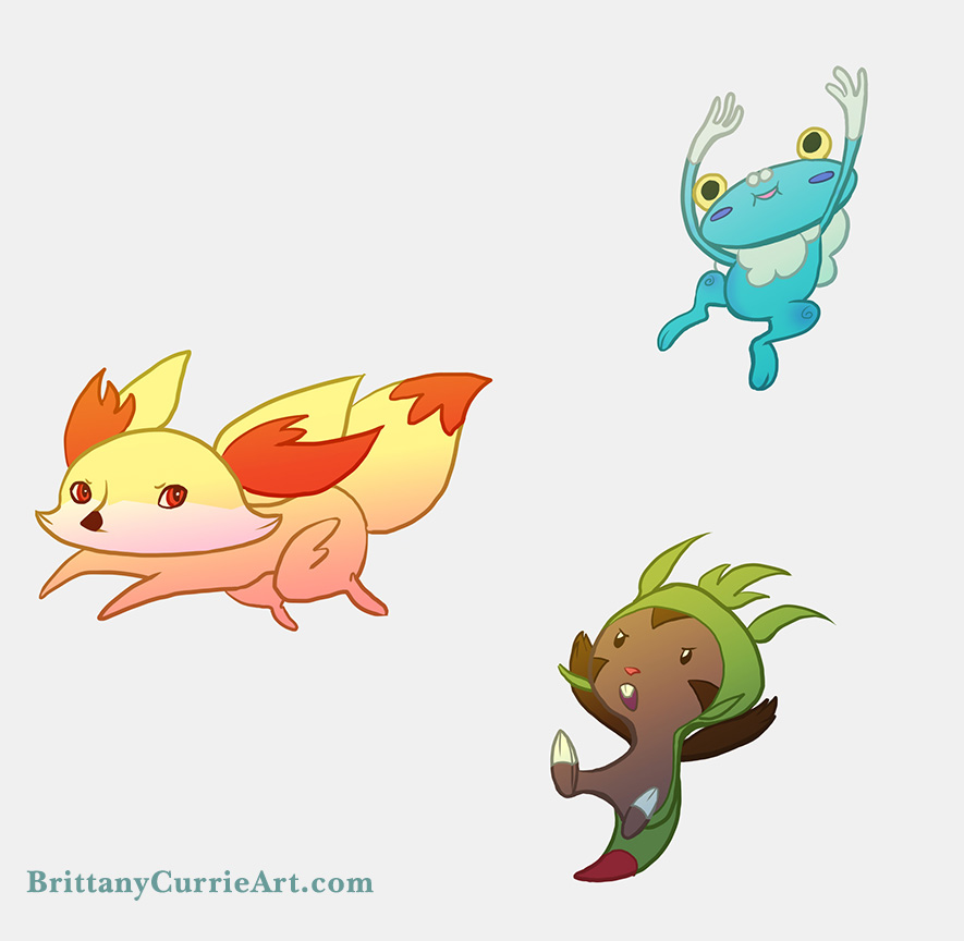 And y Starter Evolutions Pokemon x And y Starters by