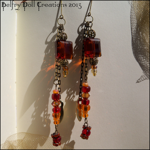 Earrings: Autumn Fires by Mykahs