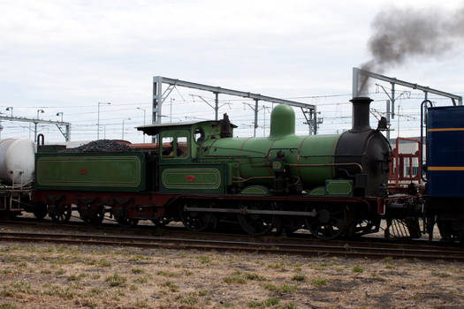 Green Steam Train K112 Stock