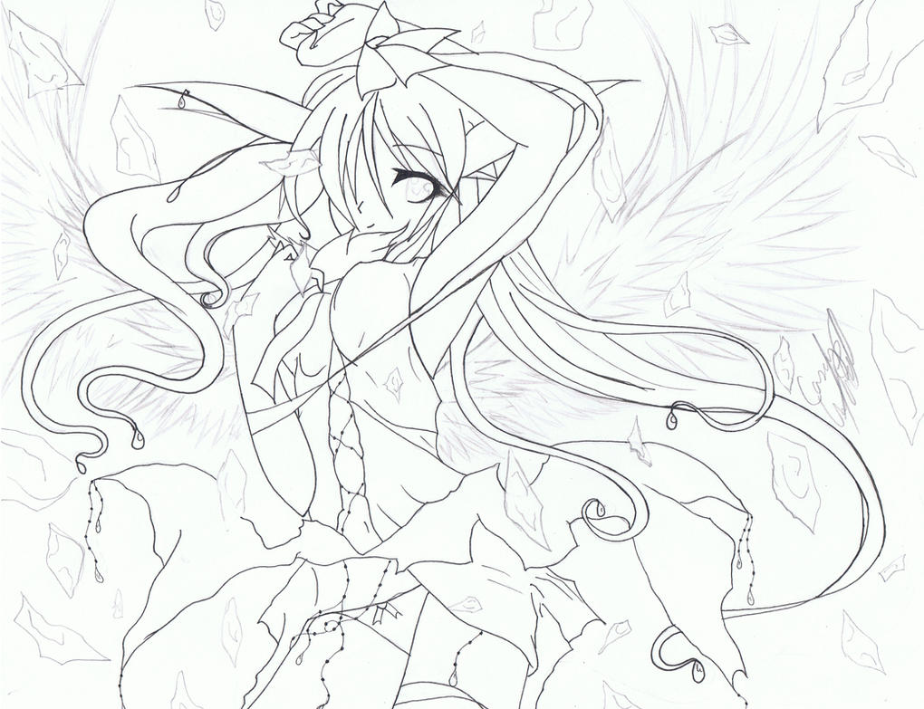 crystal angel pen by velvet vampire - Anime Vampire Girl Coloring Pages