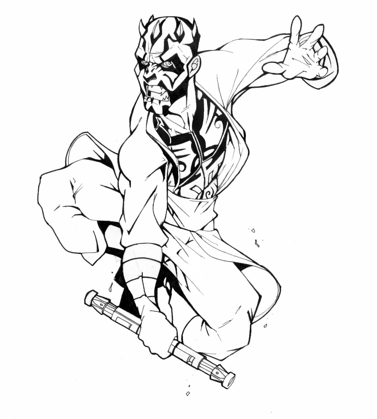 Darth maul revised by thenota on deviantart - Stars wars coloriage ...
