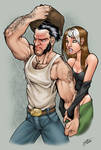 wolverine and rogue colour