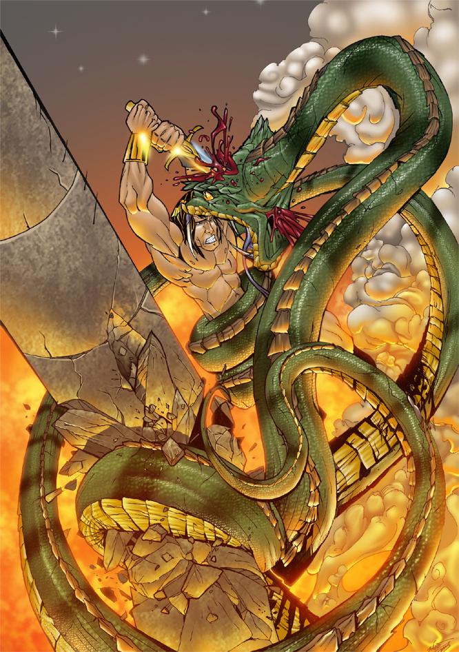 conan and the snake colour