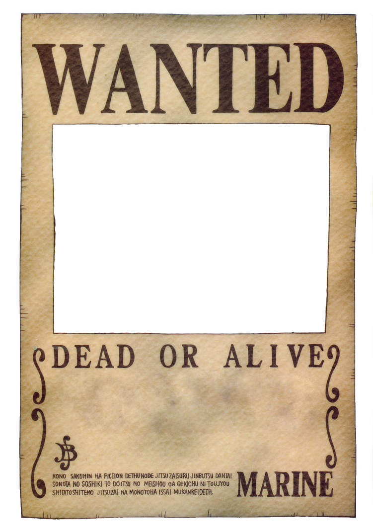 Superb One Piece Wanted Poster By Ei819 ... Regard To Create A Wanted Poster Free