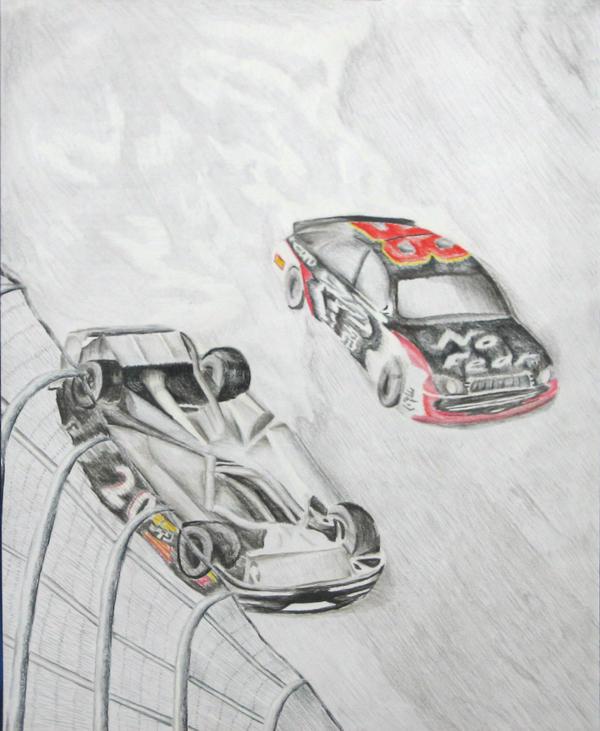 Car crash in 2006 Daytona 500 by Saiyanjedi on DeviantArt