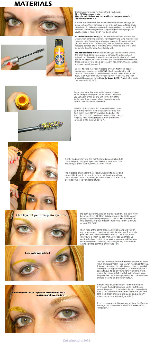 Cosplay Eyebrow Color Tutorial By Epic Fangirl On Deviantart