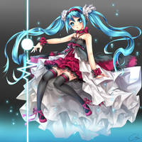 Hatsune Miku_ color by hieihirai