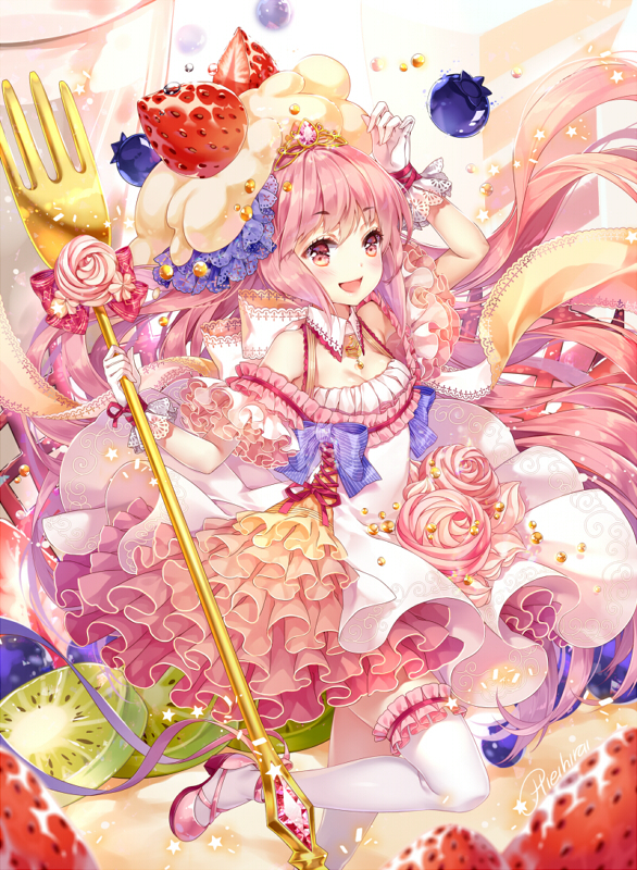 Magical Girls: Fluffy cake by hieihirai