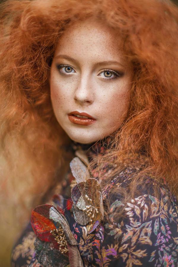 Green Natural Curly Hair