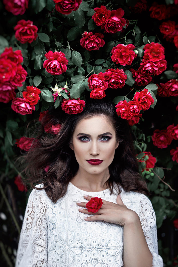 Scarlet Rose by DarkVenusPersephonae